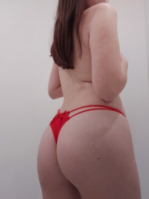 Mia's Red Double-String Thong