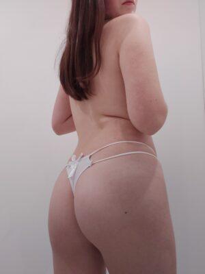 Mia's White Double-String Thong