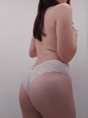 Mia's White Lace Cheekies