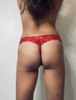 Dahlia's Red Thick Band G-String