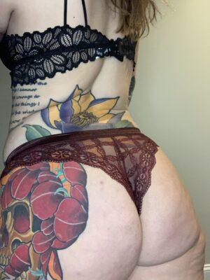 Kate's Maroon Lace Cheekies