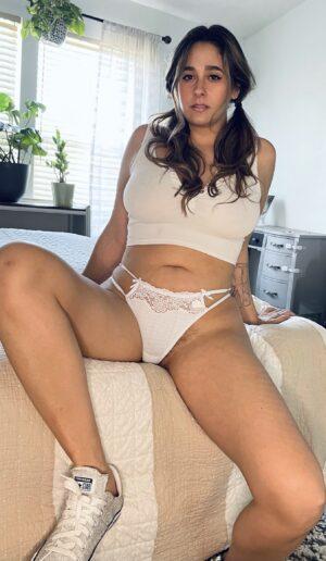 Dahlia's White Double Strap Thong