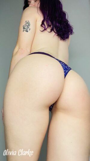 Olivia's Blue and Purple Thong