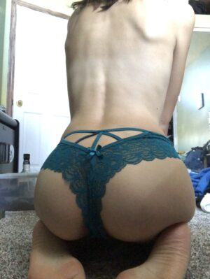 Nina's Blue Lace Thong