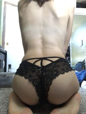 Nina's Black Lace Thong