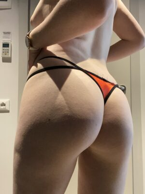 Mia's Red & Black Double Strap Thong