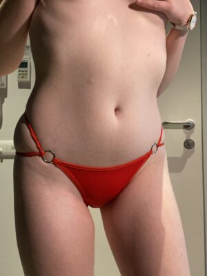Mia's Red Double Strap Thong