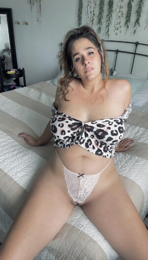 Dahlia's Nude Lace G-string