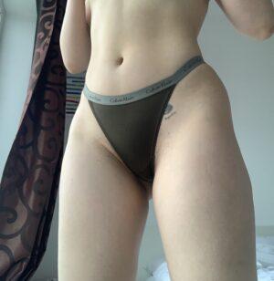 Anna's Dark Grey CK Thong