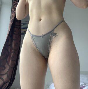 Anna's Grey String Strap Thong