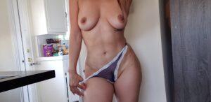 Melissa's Sheer Navy & White Thong