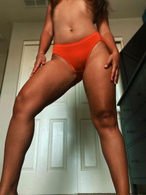 Belle's Red-Orange Panties