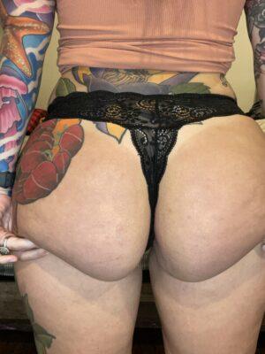 Kate's Black Lace Thong [Pregnant]